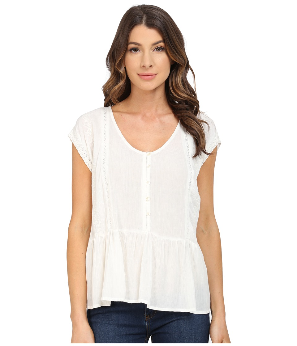 B Collection by Bobeau - Embrodiered Blouse (Ivory) Women's Blouse