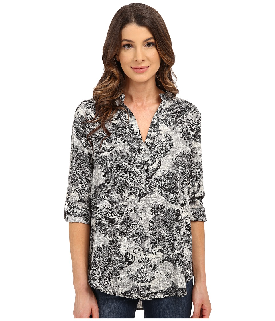 B Collection by Bobeau - Printed Blouse (Black Pattern) Women's Blouse