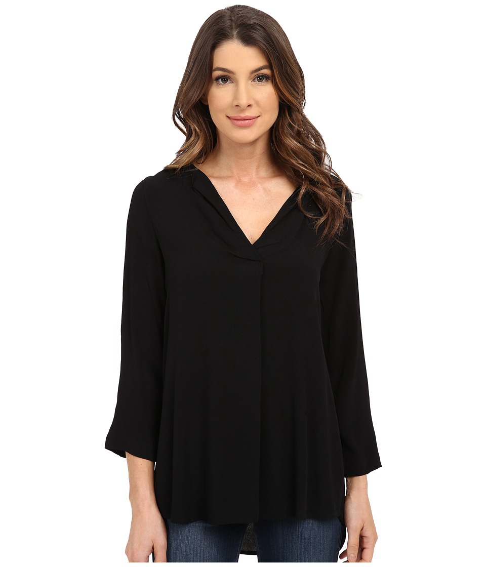 B Collection by Bobeau - V-Neck Blouse (Black) Women's Blouse