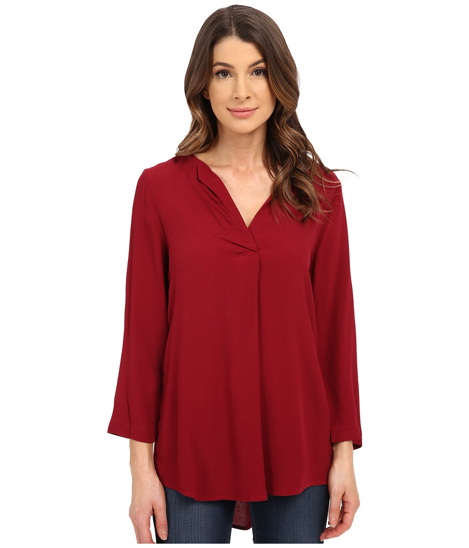 B Collection by Bobeau - V-Neck Blouse (Red) Women's Blouse