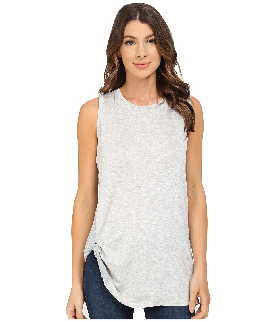 B Collection by Bobeau - Side Knot Tank Top (Grey) Women's T Shirt