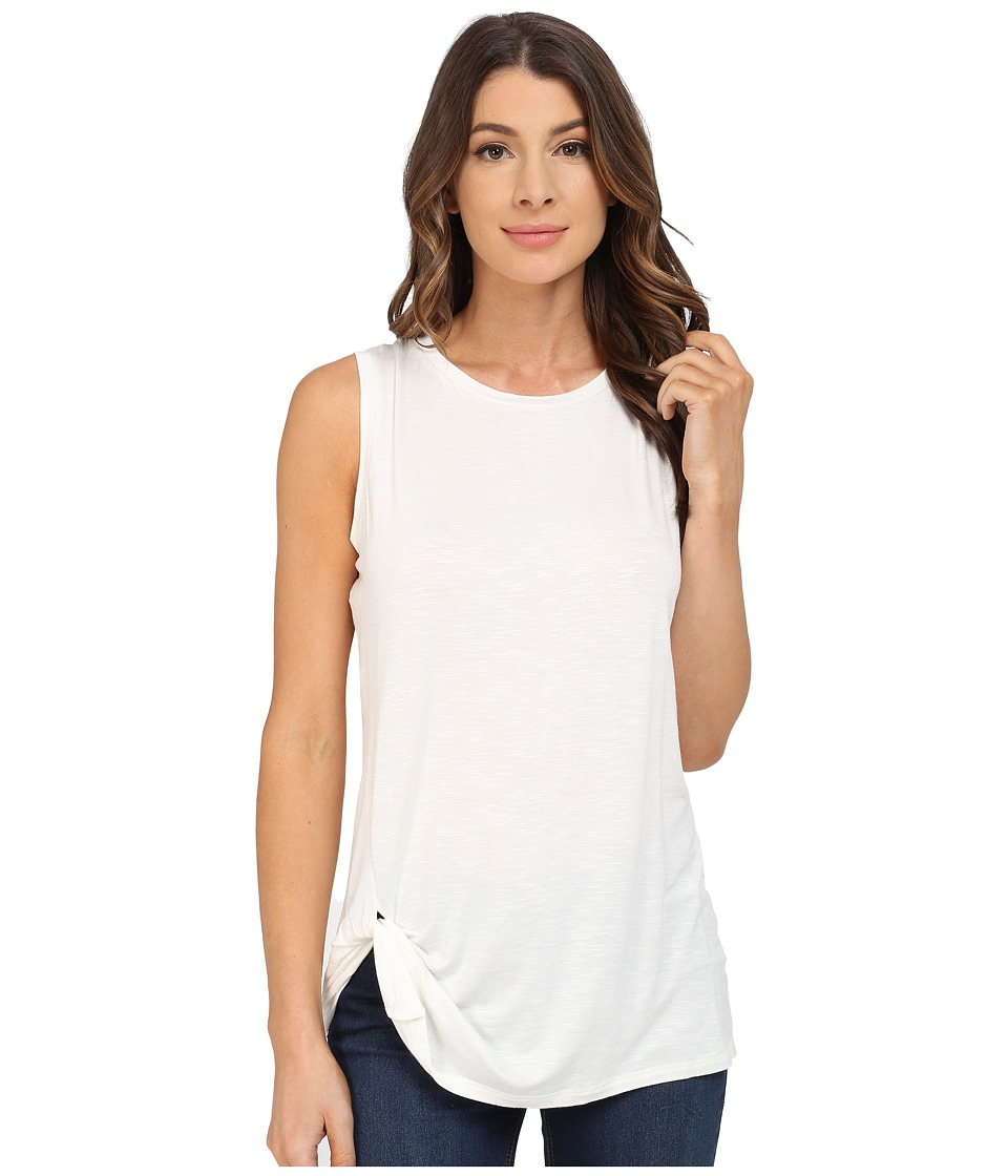 B Collection by Bobeau - Side Knot Tank Top (Ivory) Women's T Shirt