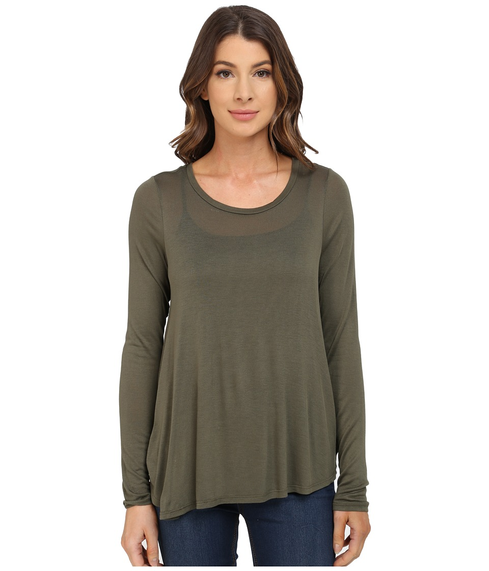 B Collection by Bobeau - Pleat Back Knit T-Shirt (Grapeleaf) Women's T Shirt