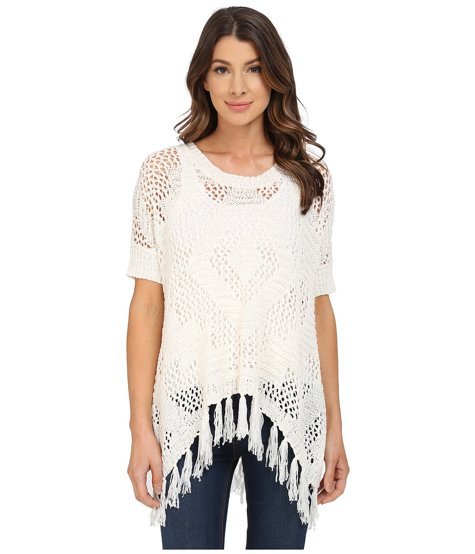 B Collection by Bobeau - Fringe Tape Yarn Sweater (Natural) Women's Sweater