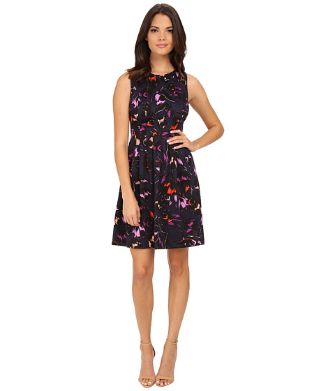 Vince Camuto - Sleeveless Printed Fit Flare Dress (Print) Women's Dress