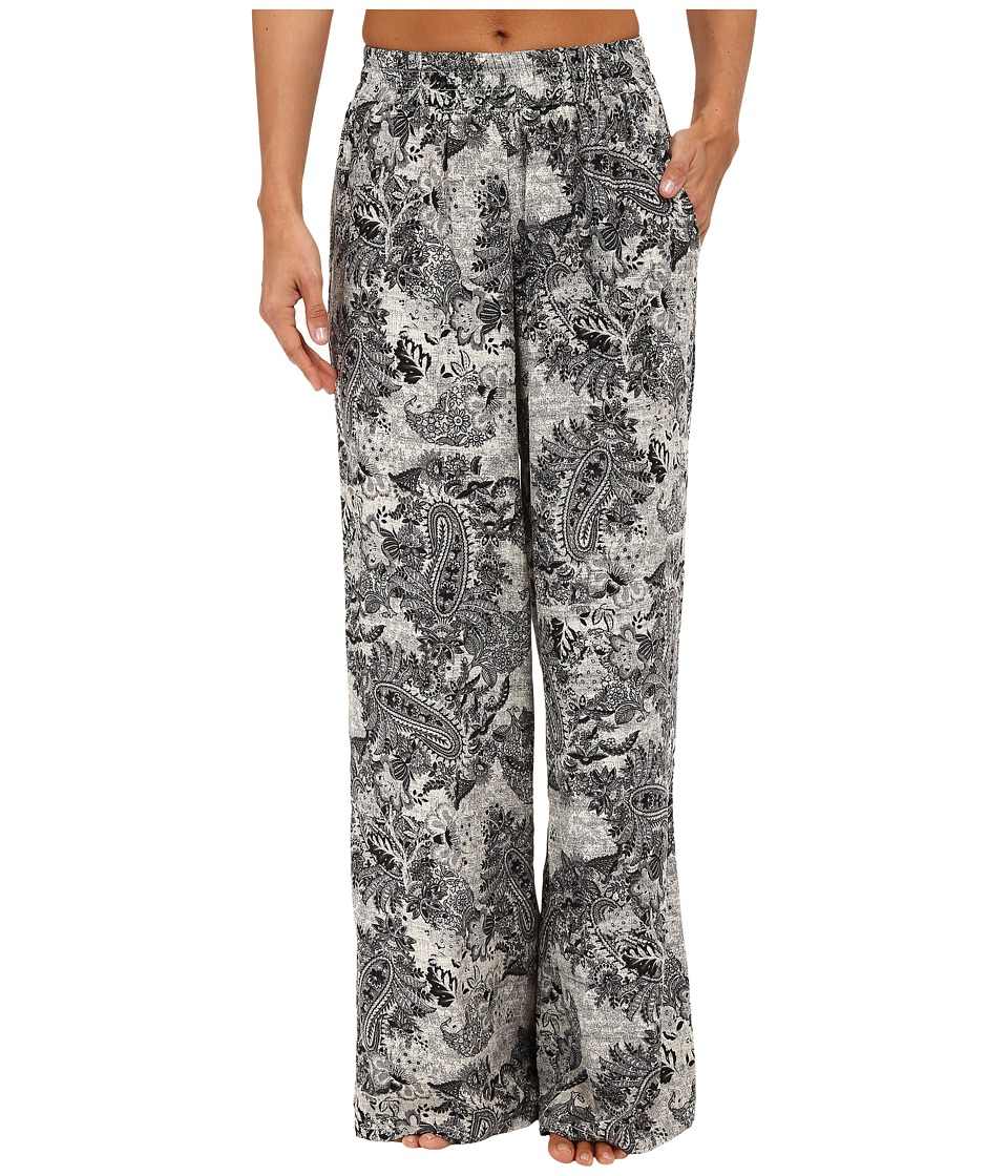 B Collection by Bobeau - Printed Palazzo Pants (Black Pattern) Women's Casual Pants plus size,  plus size fashion plus size appare