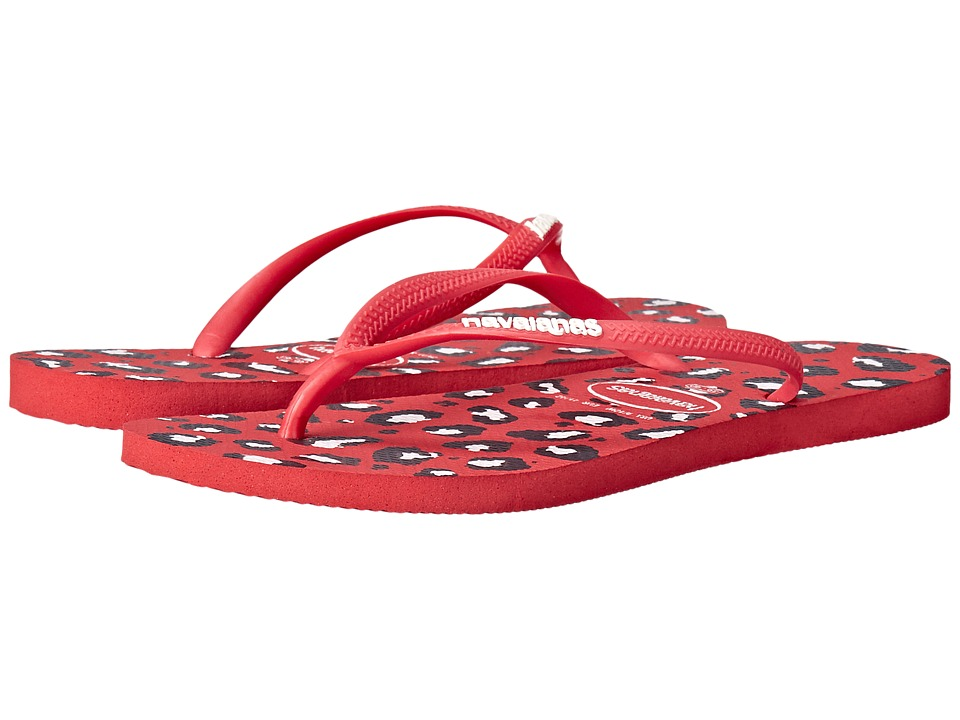 Havaianas - Slim Animals Flip Flops (Ruby Red) Women's Sandals
