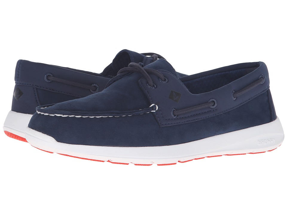 Sperry Top-Sider - Sojourn 2 - Eye Micro Fiber (Navy) Men's Slip on Shoes
