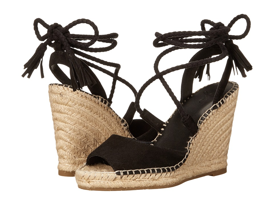 Joie - Phyllis (Black Kid Suede) Women's Wedge Shoes