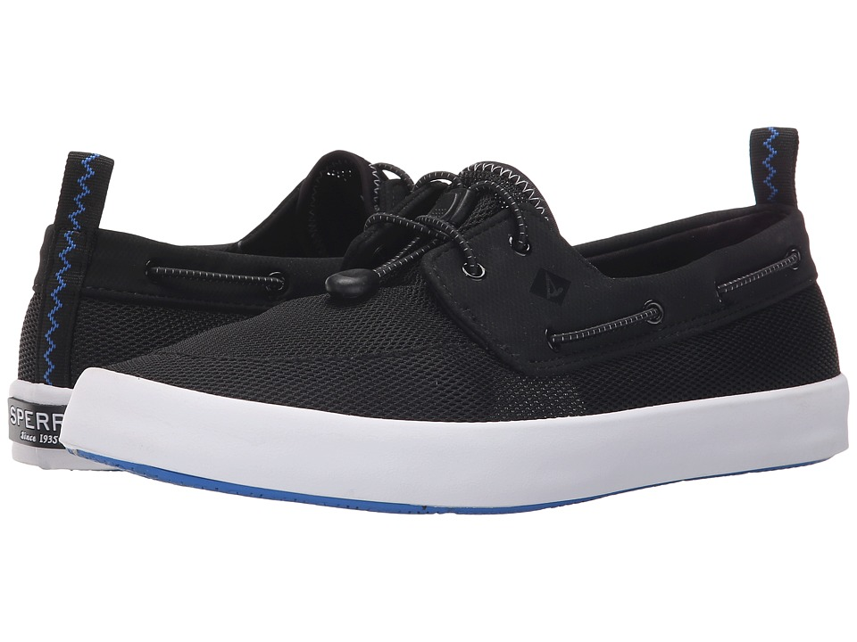 Sperry - Flex Deck Boat (Black) Men's Lace up casual Shoes