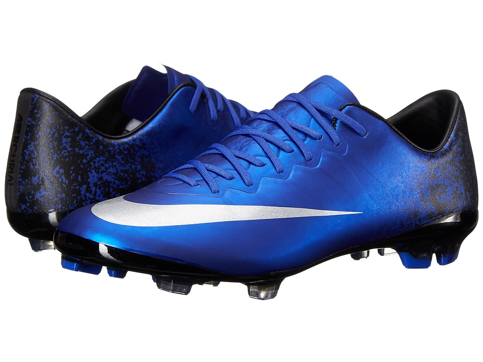 Nike Kids - Jr Mercurial Vapor X CR FG Soccer (Big Kid) (Deep Royal Blue/Racer Blue/Black/Metallic Silver) Kids Shoes