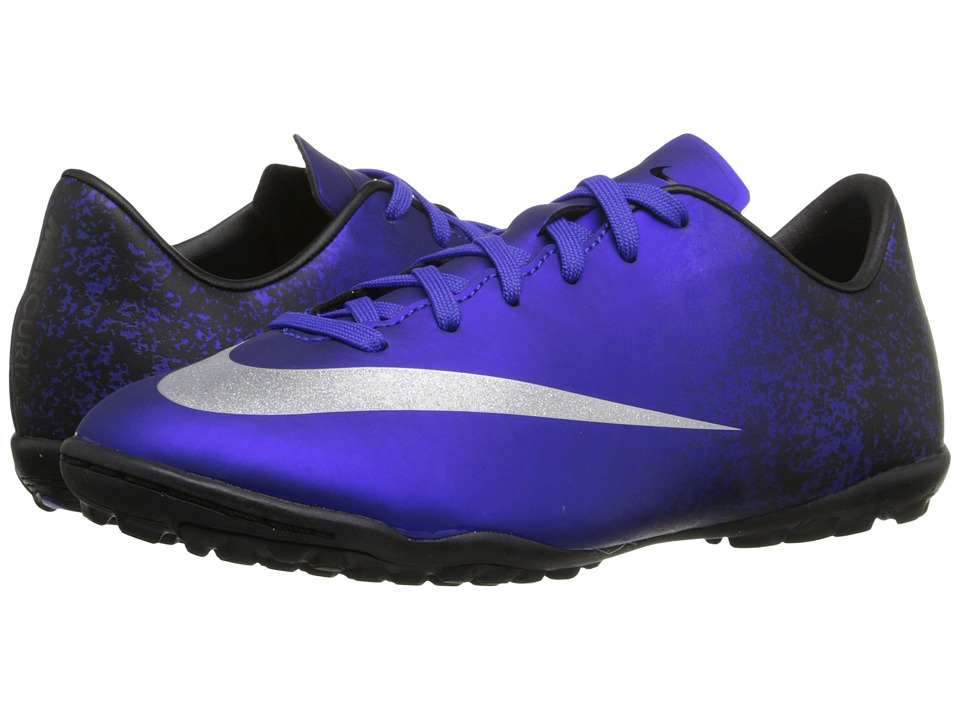 Nike Kids - Mercurial Victory V CR TF Soccer (Toddler/Little Kid/Big Kid) (Deep Royal Blue/Racer Blue/Black/Metallic Silver) Kids Shoes