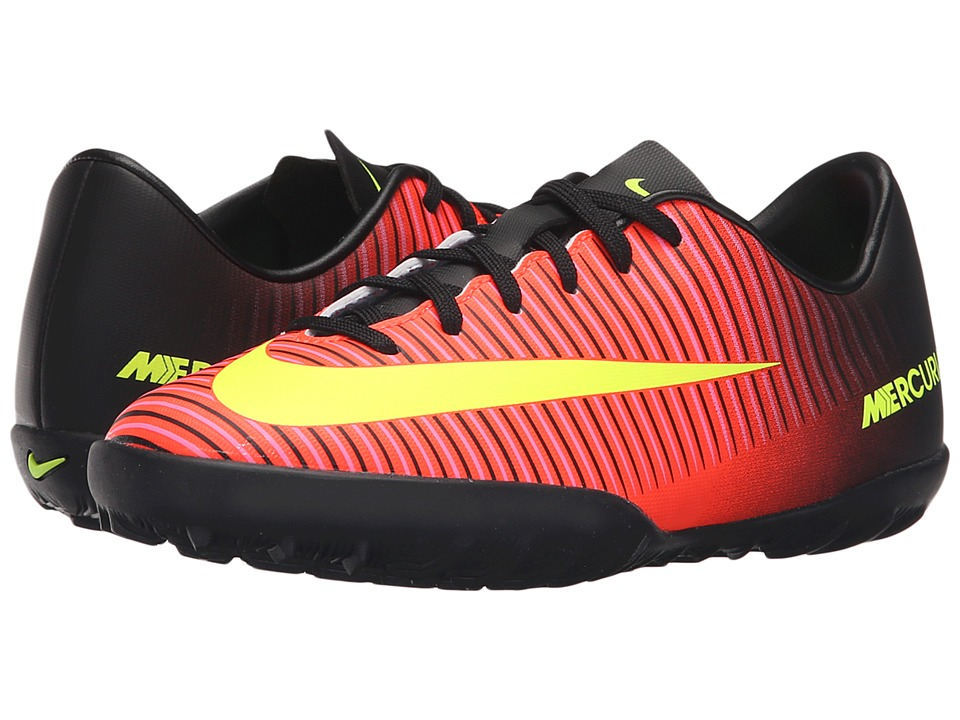 Nike Kids - JR Mercurial Vapor XI TF Soccer (Toddler/Little Kid/Big Kid) (Total Crimson/Black/Pink Blast/Volt) Kids Shoes