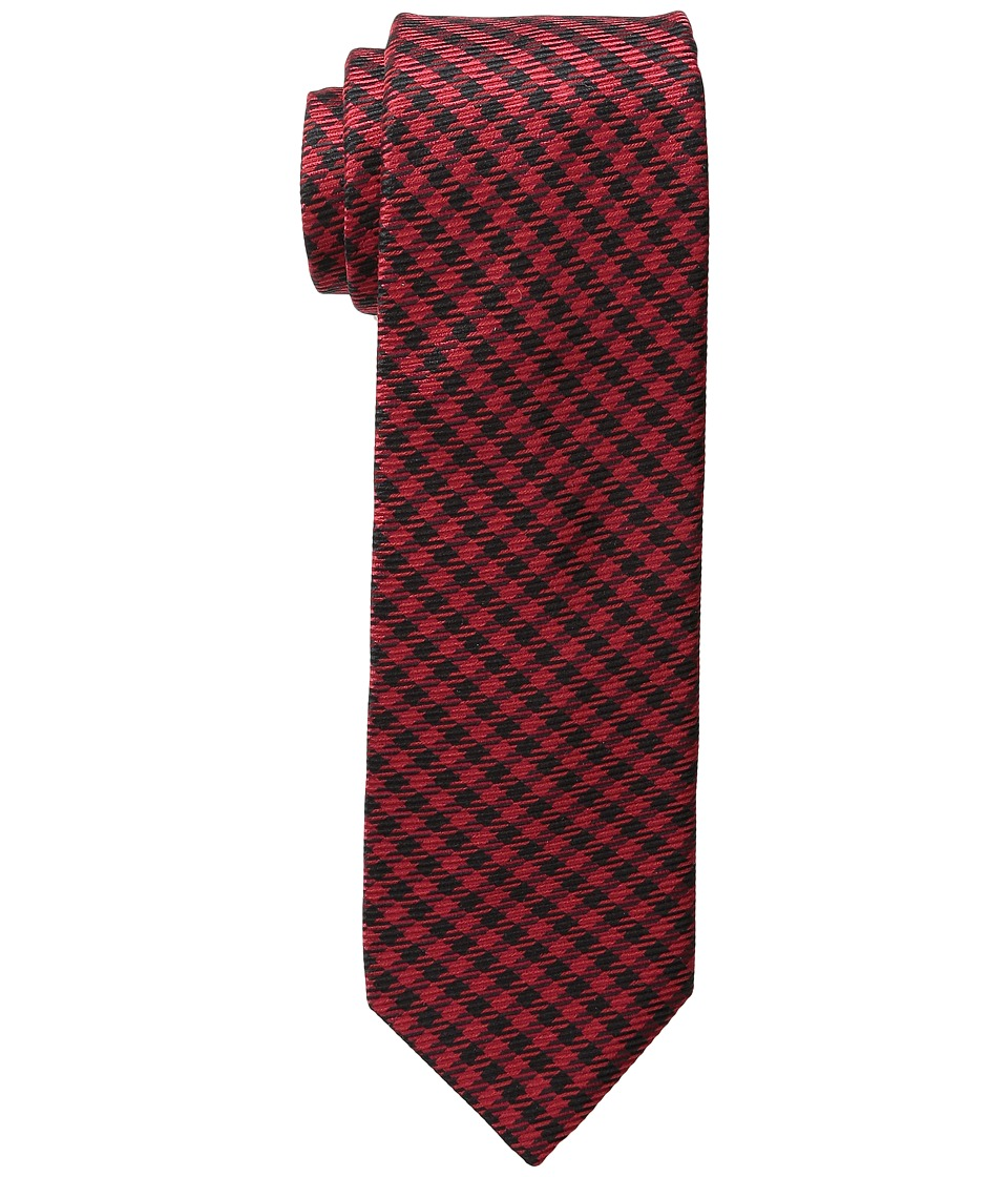 Ted Baker - Red Warp Houndstooth (Red) Ties