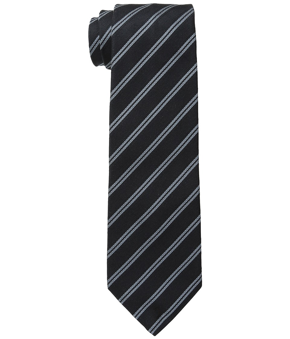 John Varvatos Star U.S.A. - Traditional Stripe (Black) Ties