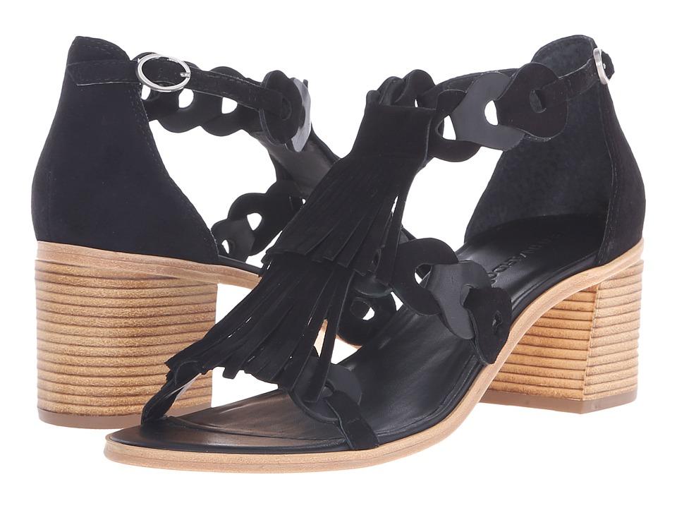 Bernardo - Brogan (Black/Black Suede) High Heels