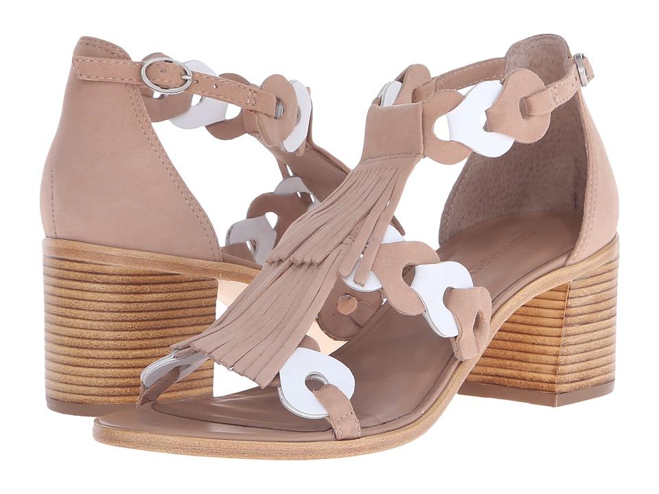 Bernardo - Brogan (Sand/White Suede) High Heels
