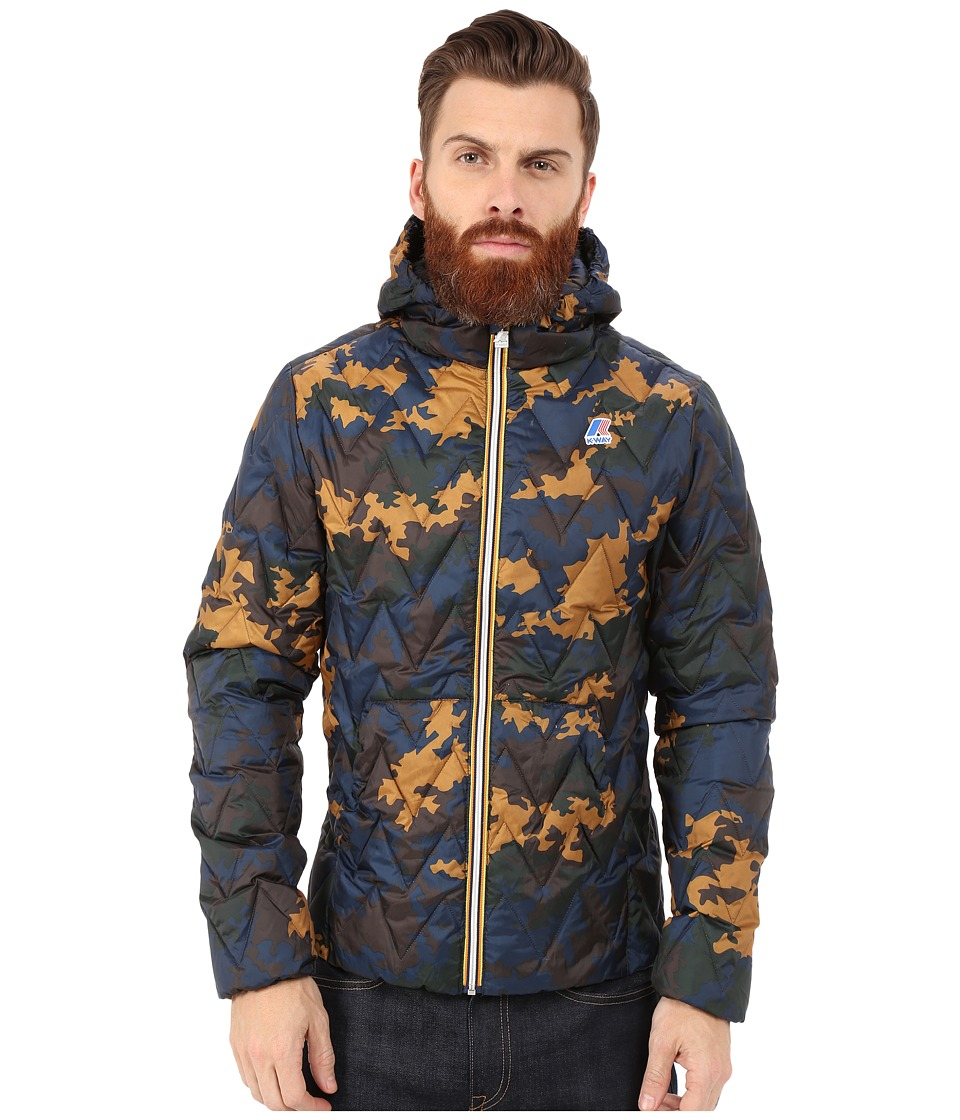 K-WAY - Marten Light Thermo Graphic Jacket (Camo Nato Camel) Men's Coat