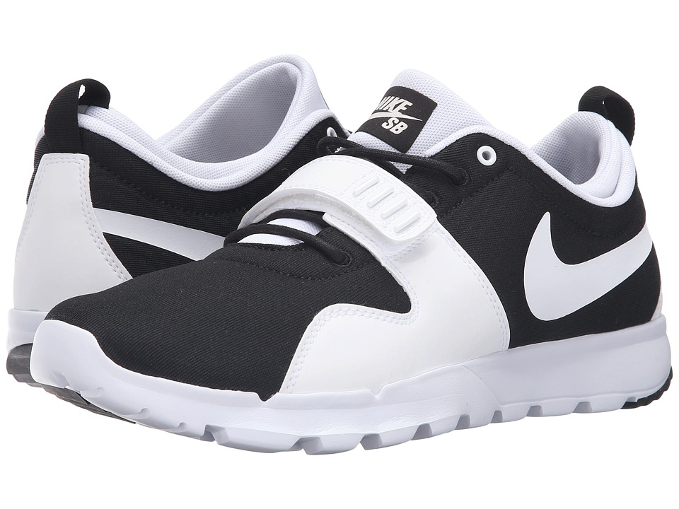 Nike SB - Trainerendor (Black/White/White) Men's Skate Shoes