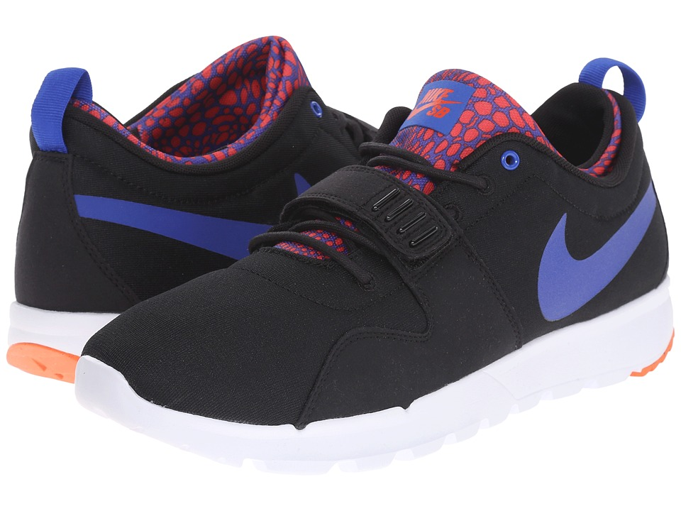 Nike SB - Trainerendor (Black/White/Total Crimson/Racer Blue) Men's Skate Shoes