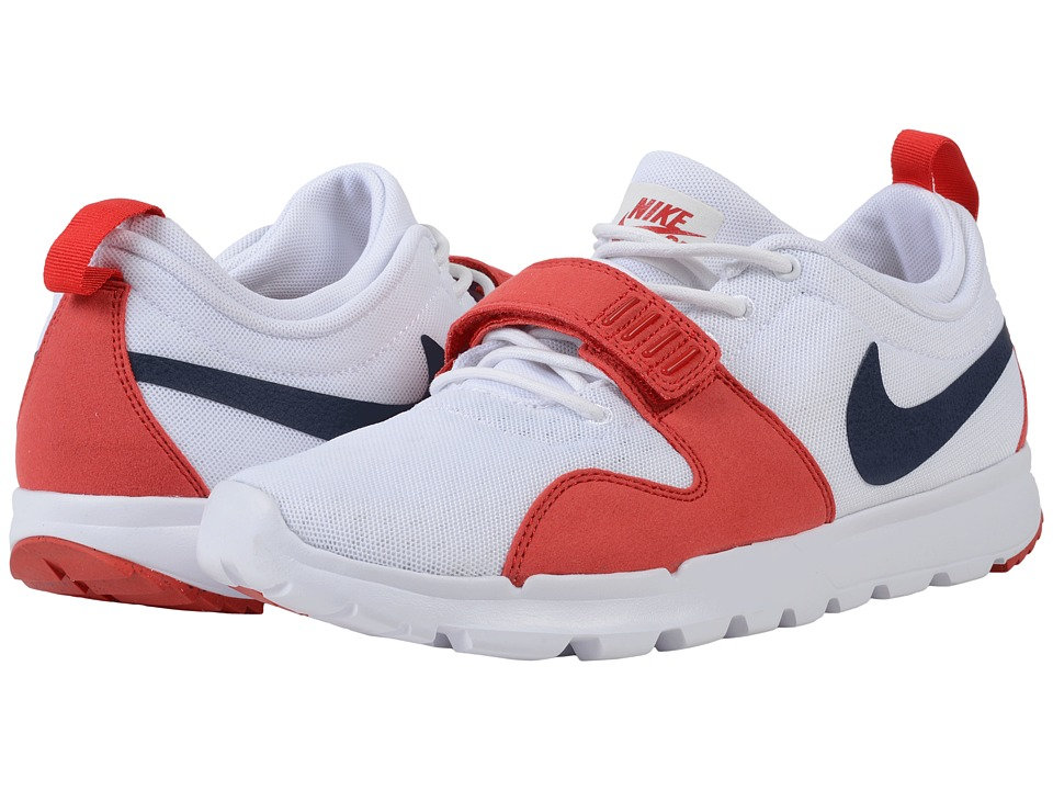 Nike SB - Trainerendor (White/University Red/White/Obsidian) Men's Skate Shoes