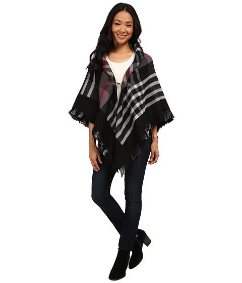 Brigitte Bailey - Kennedy Poncho (Black/White) Women's Coat