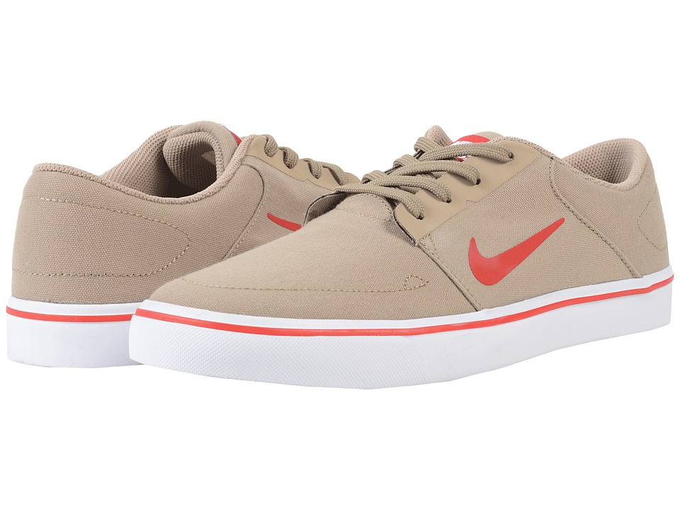 Nike SB Portmore Canvas (Khaki/White/University Red) Men