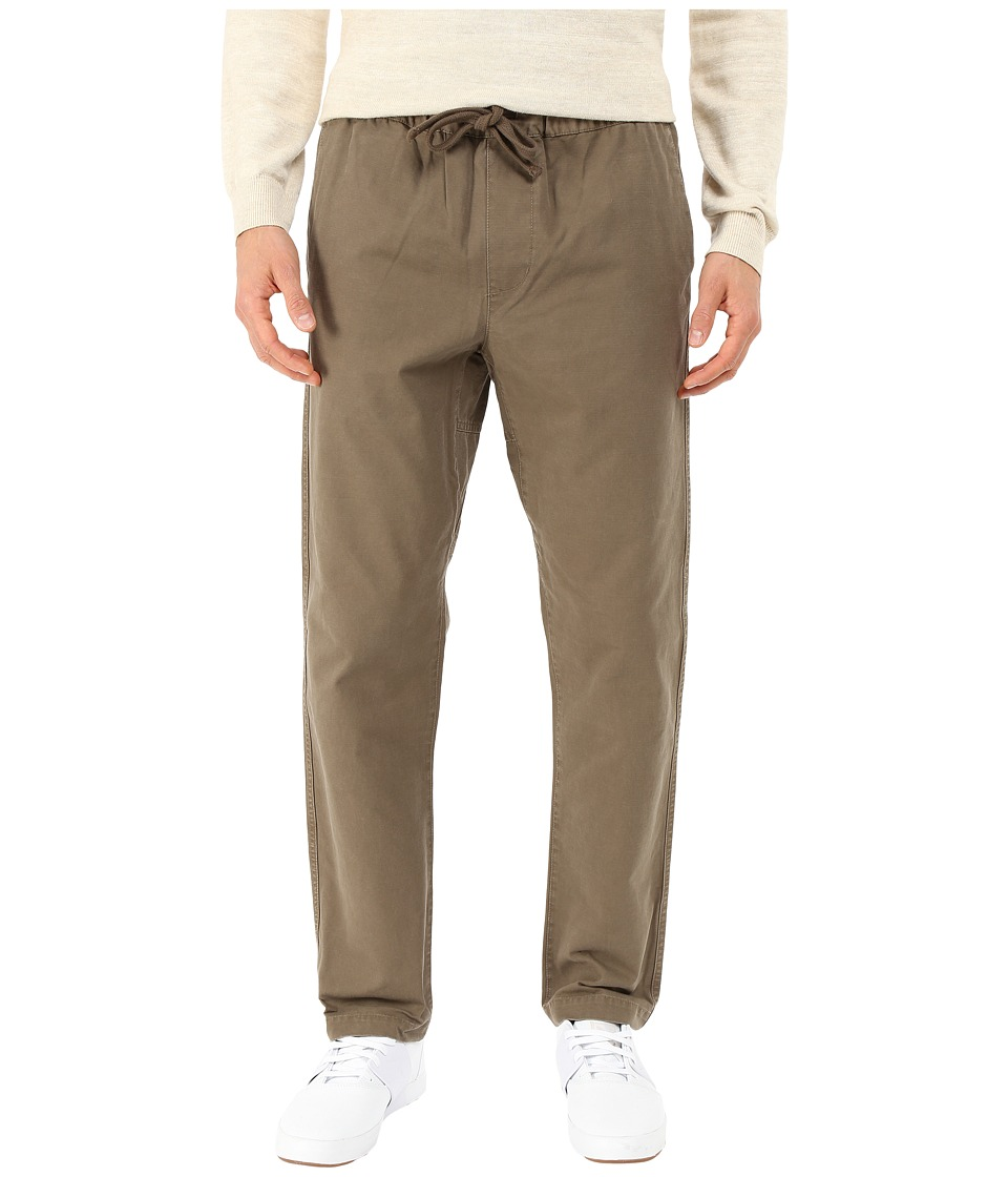 Obey - Traveler Slub Twill Pants (Olive Brown) Men's Casual Pants