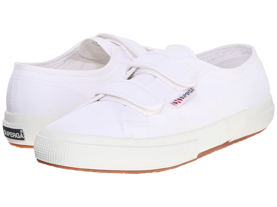 Superga 2750 Velu (White) Hook and Loop Shoes