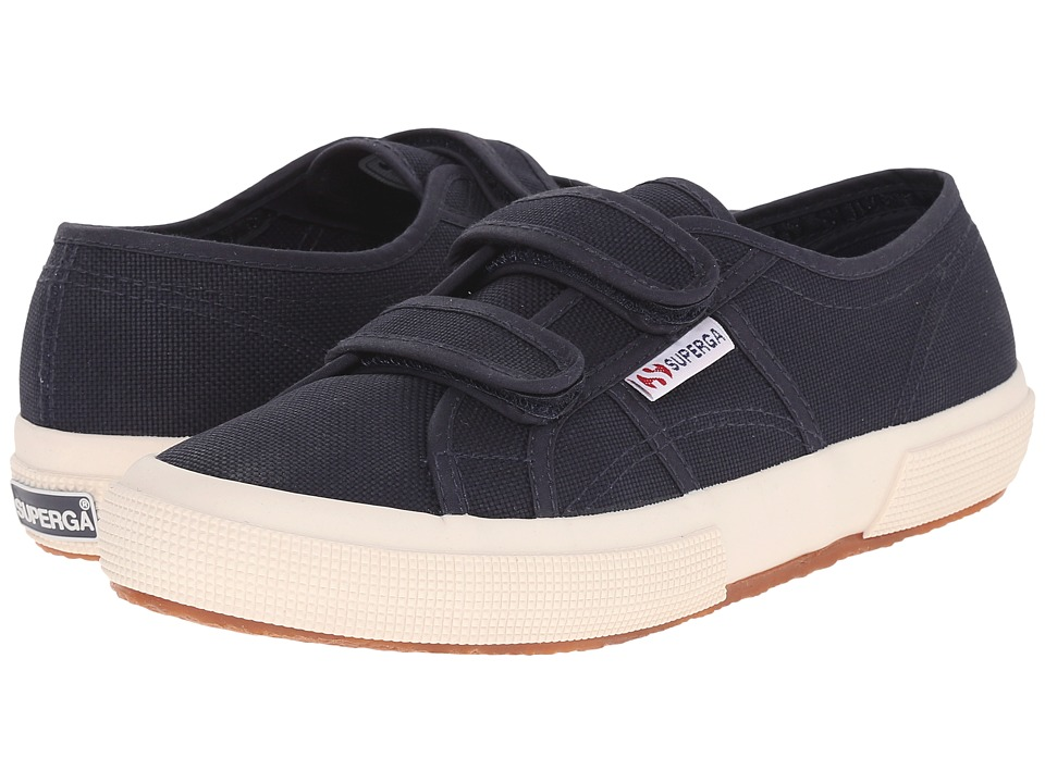 Superga 2750 Velu (Navy) Hook and Loop Shoes