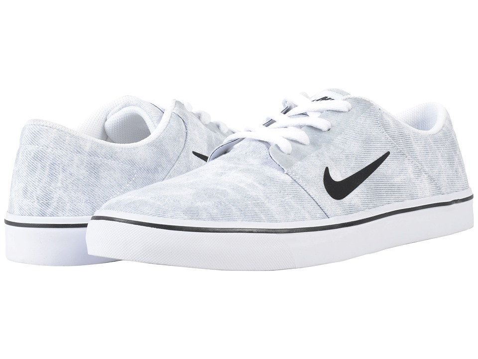 Nike SB Portmore Canvas Premium (White/Wolf Grey/Black) Men