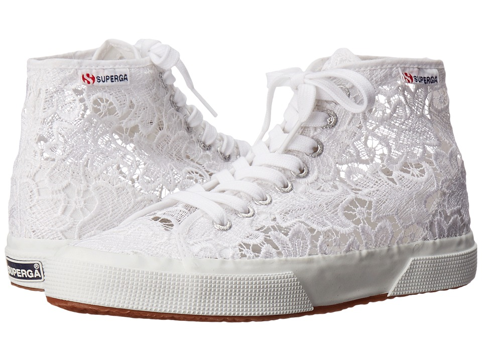 Superga - 2795 Macrame W (White) Women's Lace up casual Shoes