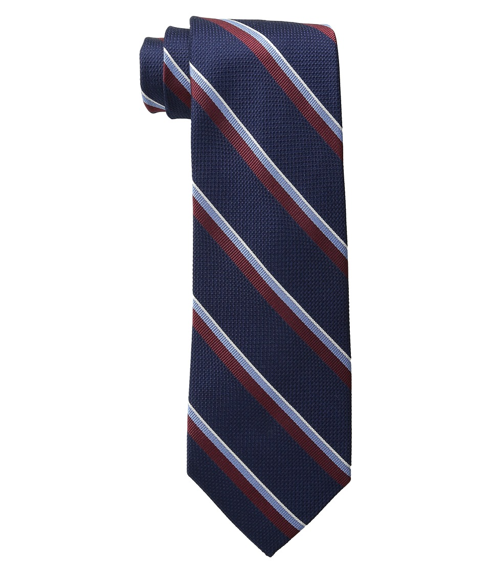 Tommy Hilfiger - Grenadine Repp Stripe (Navy) Ties