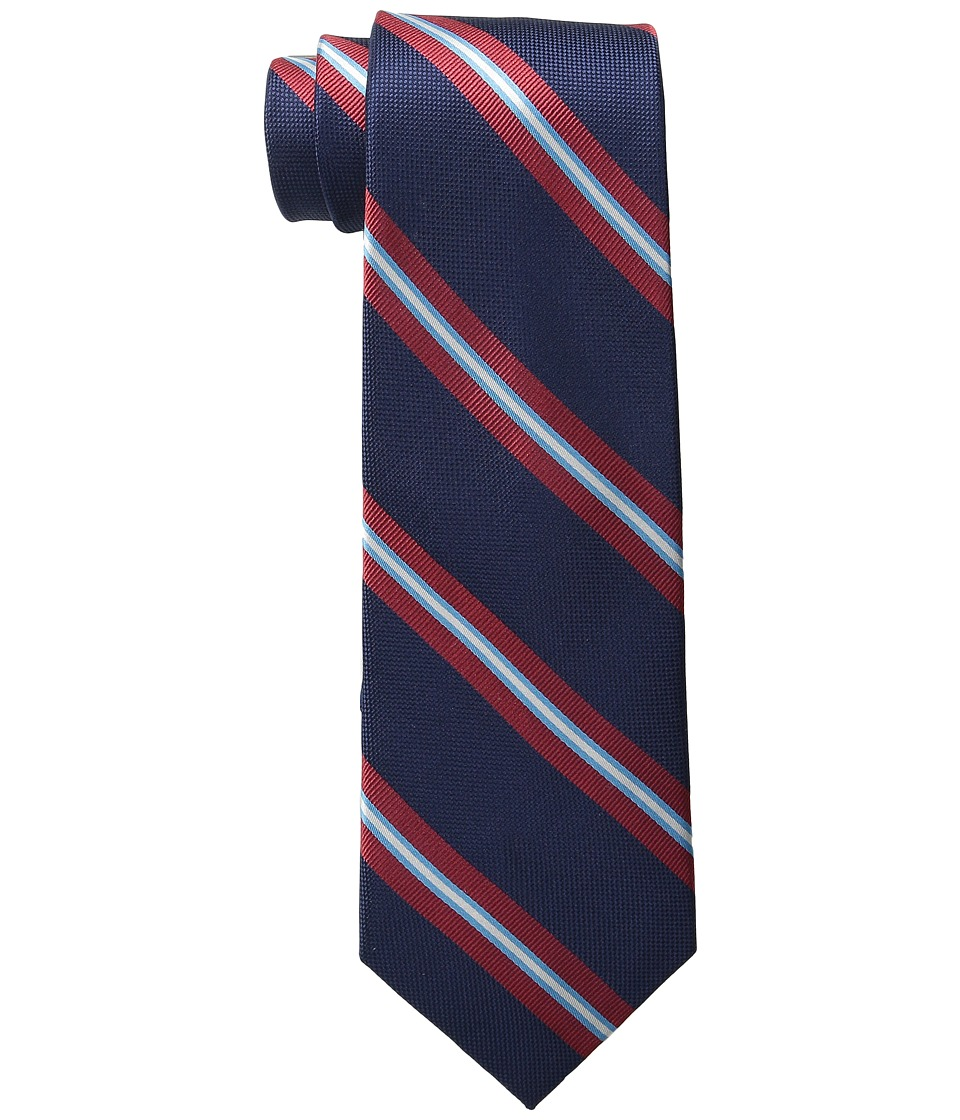 Tommy Hilfiger - Oxford Ribb Stripe (Navy) Ties