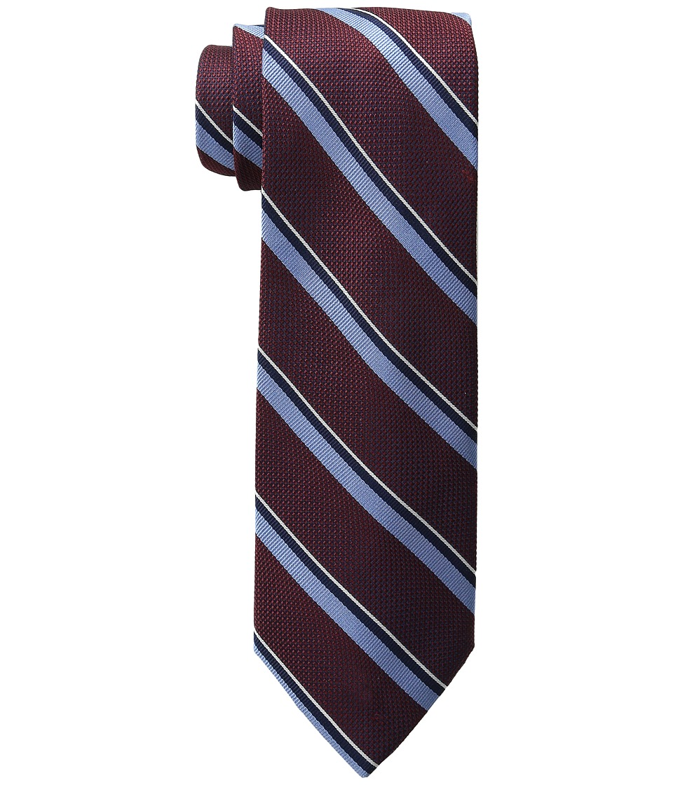 Tommy Hilfiger - Grenadine Repp Stripe (Burgundy) Ties
