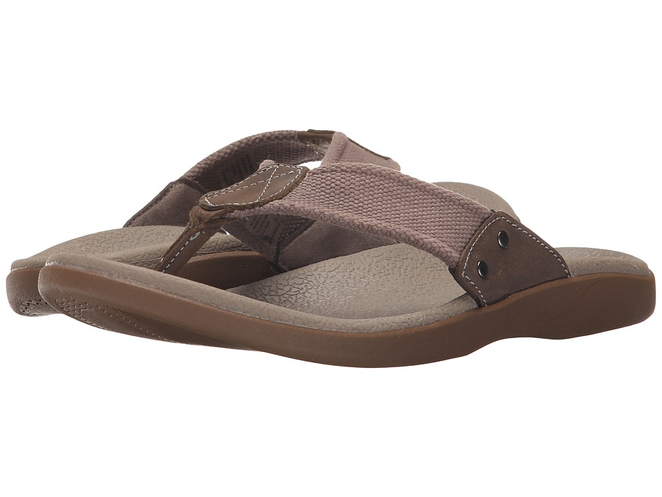 Dockers - Sundale (Taupe/Charcoal Cotton Webbing/Distressed Crazyhorse) Men's Sandals