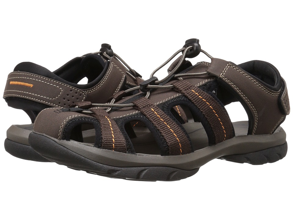 Dockers - Provence (Brown/Brown/Orange Distressed/Mesh) Men's Sandals