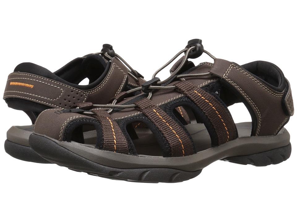 Dockers - Provence (Brown/Brown/Orange Distressed/Mesh) Men's Sandals