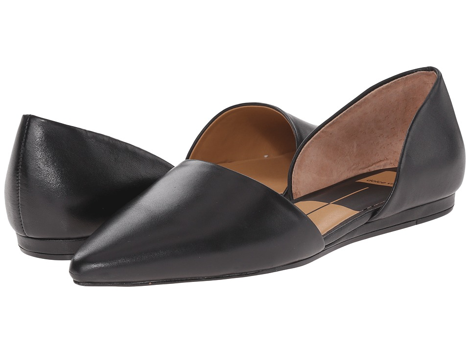 Dolce Vita - Adele (Black Leather) Women's Slip on Shoes