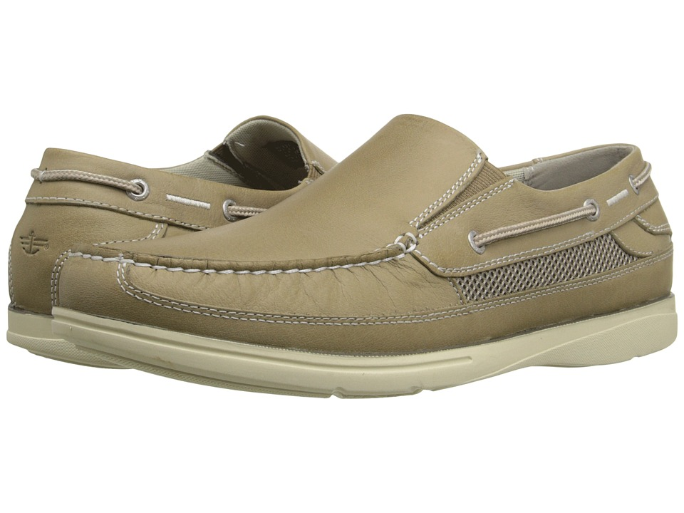 Dockers - Chalmers (Light Taupe Soft Waxy Tumbled) Men's Slip on Shoes