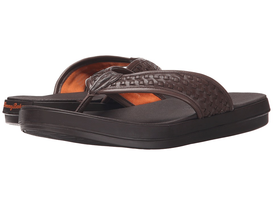 Tommy Bahama - Relaxology Woven Jonobi (Dark Brown) Men's Sandals
