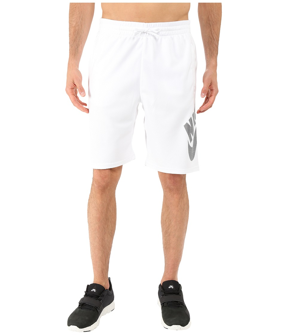 Nike SB - SB Dri-FIT Stripe Sunday Short (White/Black) Men's Shorts