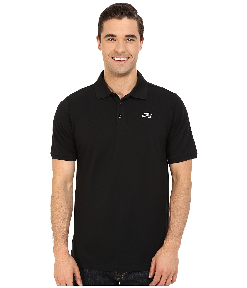 Nike SB - SB Dri-FIT Pique Polo (Black/White) Men's Clothing