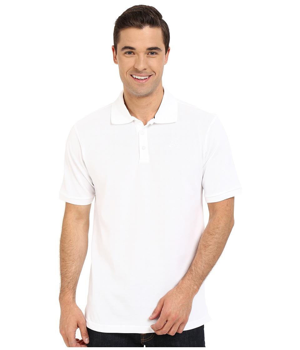 Nike SB - SB Dri-FIT Pique Polo (White/White) Men's Clothing