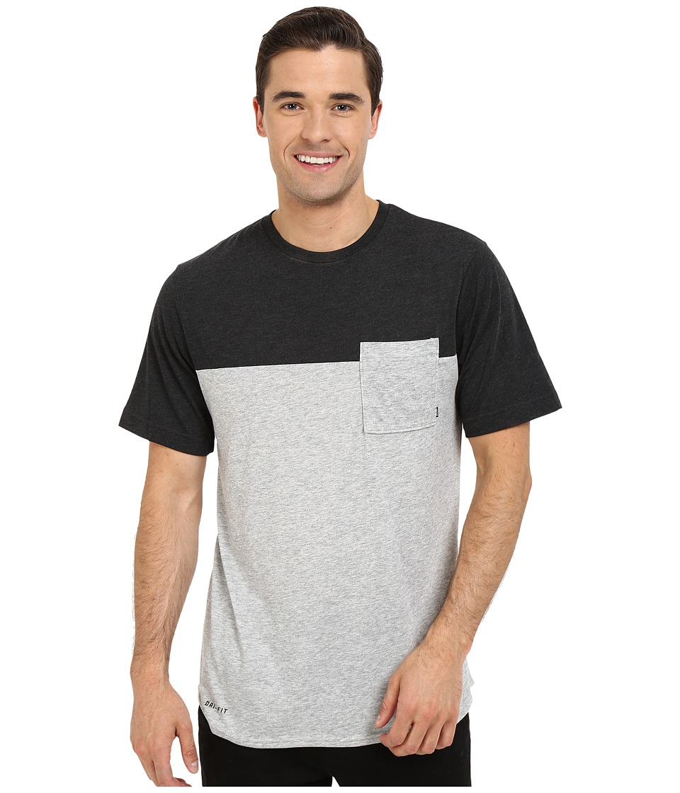 Nike SB - SB Dri-FIT Blocked Pocket Tee (Dark Grey Heather/Black Heather) Men's T Shirt