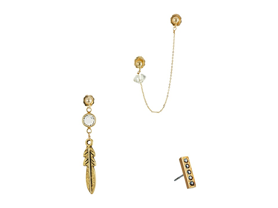 Vanessa Mooney - Zeppelin Earrings Set (Gold) Earring
