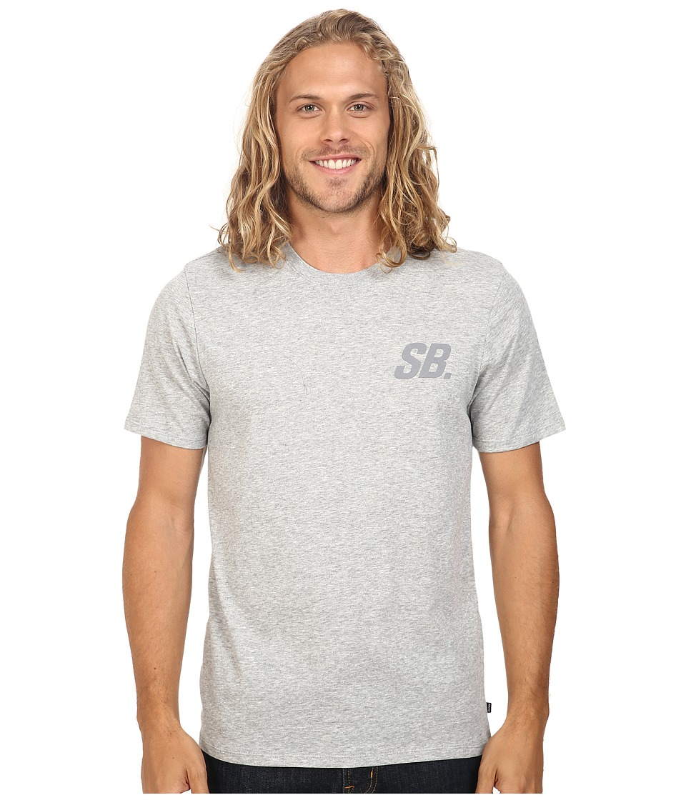 Nike SB - SB Tonal Tee (Dark Grey Heather/Dark Grey Heather) Men's T Shirt