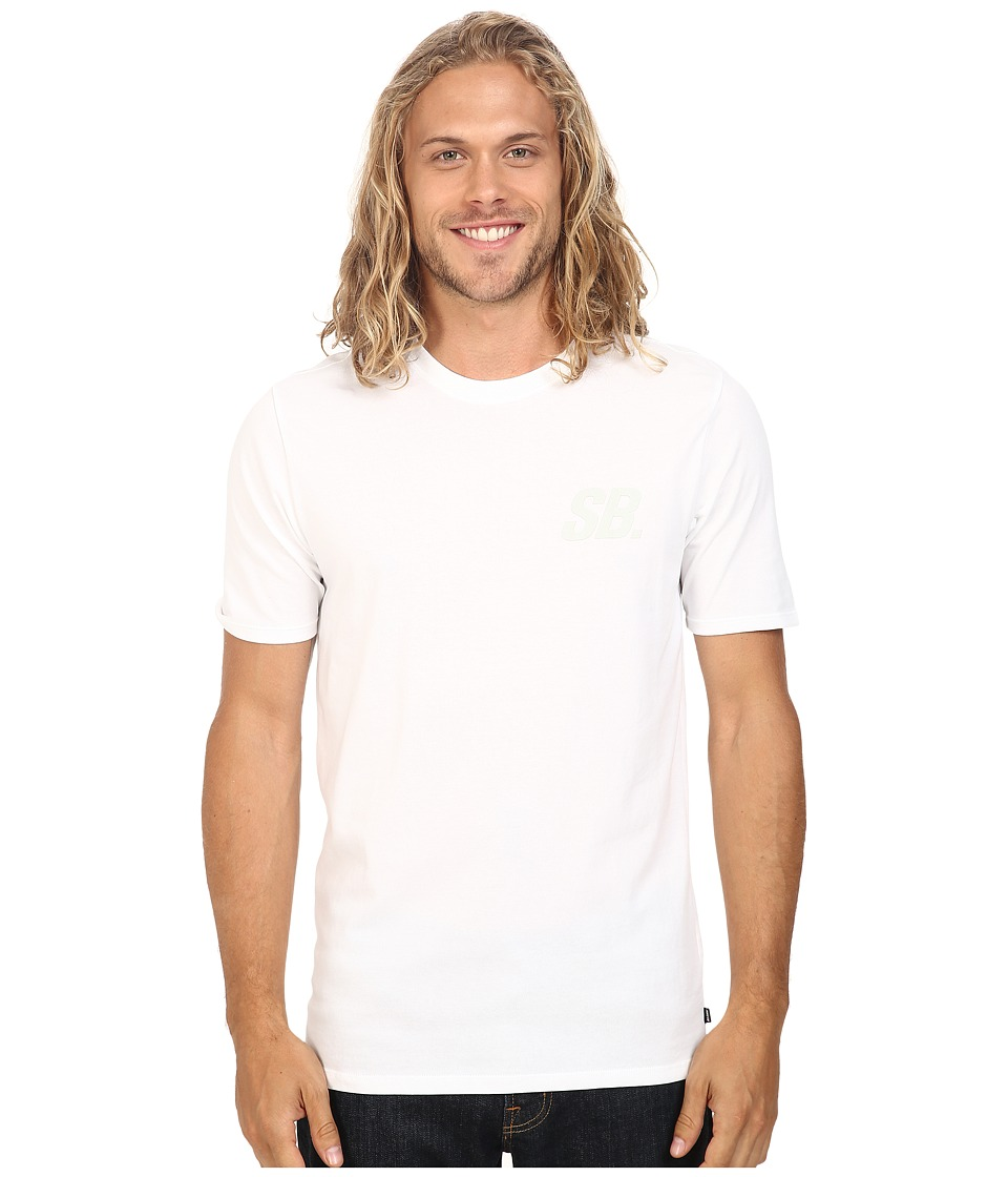 Nike SB - SB Tonal Tee (White/White/Birch Heather) Men's T Shirt