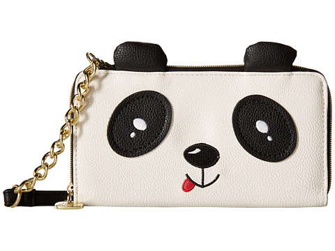 Betsey Johnson - Panda Wallet On a String (Bone/Black) Cross Body Handbags