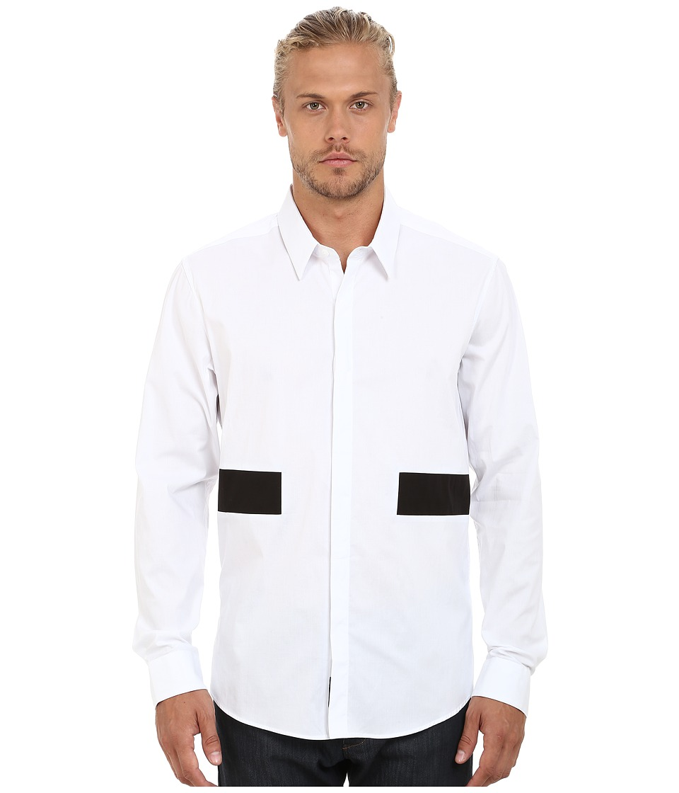 7 Diamonds - Straight Up Long Sleeve Shirt (White) Men's Long Sleeve Button Up